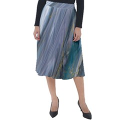 Agate Marble Classic Velour Midi Skirt  by tarastyle