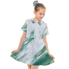 Agate Marble Kids  Short Sleeve Shirt Dress by tarastyle