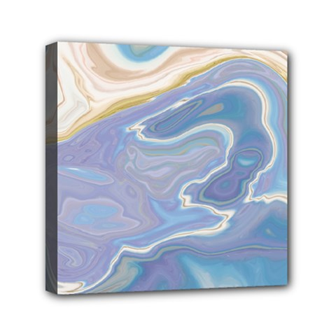 Agate Marble Mini Canvas 6  X 6  (stretched)