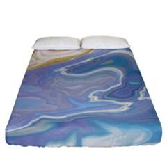 Agate Marble Fitted Sheet (california King Size) by tarastyle