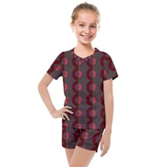Zappwaits Retro 12 Kids  Mesh Tee And Shorts Set by zappwaits