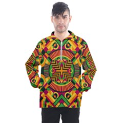 Modern Geometric Pattern Men s Half Zip Pullover