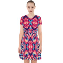 Modern Geometric Pattern Adorable In Chiffon Dress by tarastyle