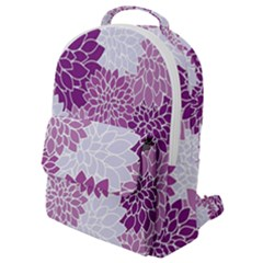 Purple Dahlias Design Flap Pocket Backpack (small) by WensdaiAmbrose
