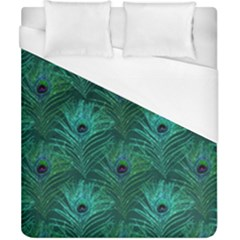 Peacock Glitter Feather Pattern Duvet Cover (california King Size) by tarastyle