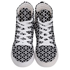 No Interruptions   Geometric Design Men s Hi Top Skate Sneakers