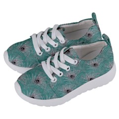 Peacock Glitter Feather Pattern Kids  Lightweight Sports Shoes by tarastyle