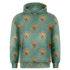 Peacock Glitter Feather Pattern Men s Overhead Hoodie by tarastyle