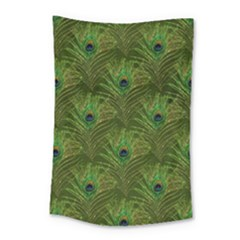 Peacock Glitter Feather Pattern Small Tapestry by tarastyle