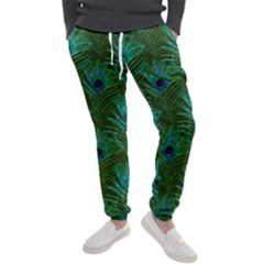 Peacock Glitter Feather Pattern Men s Jogger Sweatpants