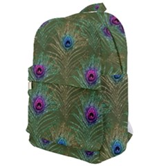 Peacock Glitter Feather Pattern Classic Backpack by tarastyle