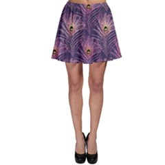 Peacock Glitter Feather Pattern Skater Skirt by tarastyle