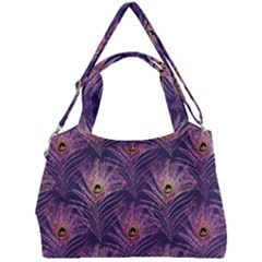 Peacock Glitter Feather Pattern Double Compartment Shoulder Bag by tarastyle