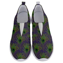 Peacock Glitter Feather Pattern No Lace Lightweight Shoes by tarastyle