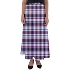 Tartan Pattern Flared Maxi Skirt
