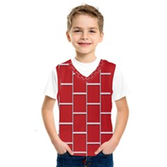 Red Illustrations Background Kids  Sportswear