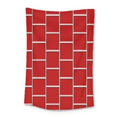 Red Illustrations Background Small Tapestry