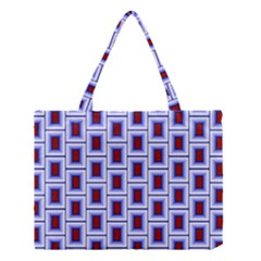 Abstract Square Illustrations Background Medium Tote Bag