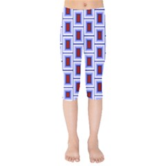 Abstract Square Illustrations Background Kids  Capri Leggings  by Pakrebo