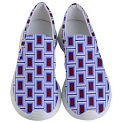 Abstract Square Illustrations Background Women s Lightweight Slip Ons