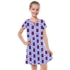 Abstract Square Illustrations Background Kids  Cross Web Dress