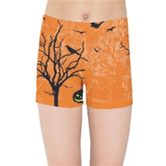Halloween Illustration Decoration Kids  Sports Shorts by Pakrebo