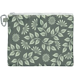 Flowers Pattern Spring Nature Canvas Cosmetic Bag (xxxl)