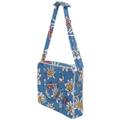 Koi Pattern Japanese Background Cross Body Office Bag by Pakrebo