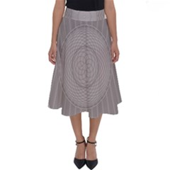 Certificate Rosette Diploma Design Perfect Length Midi Skirt