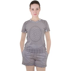 Certificate Rosette Diploma Design Women s Tee And Shorts Set