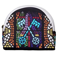 Mosaic Window Rosette Church Glass Horseshoe Style Canvas Pouch