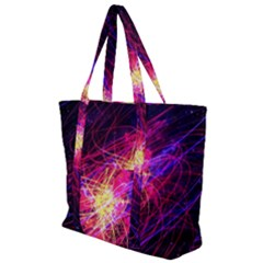 Abstract Cosmos Space Particle Zip Up Canvas Bag