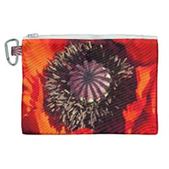 Ornamental Poppies Half Rosette Plant Canvas Cosmetic Bag (xl)