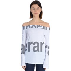 Theranos Logo Off Shoulder Long Sleeve Top by milliahood