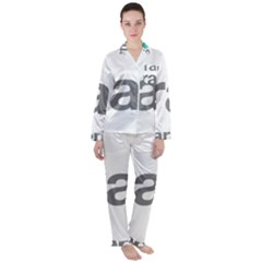 Theranos Logo Satin Long Sleeve Pyjamas Set