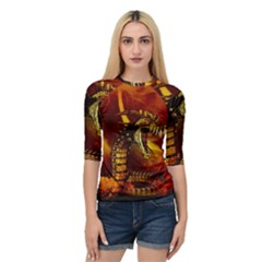 Awesome Dinosaur, Konda In The Night Quarter Sleeve Raglan Tee by FantasyWorld7