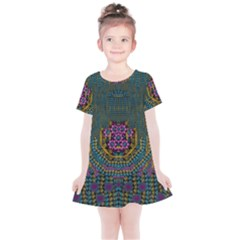 The  Only Way To Freedom And Dignity Ornate Kids  Simple Cotton Dress by pepitasart