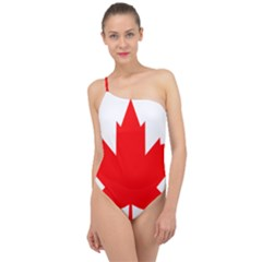 Flag Of Canada, 1964 Classic One Shoulder Swimsuit by abbeyz71