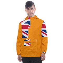 Flag Of Grand Orange Lodge Of Canada Men s Front Pocket Pullover Windbreaker by abbeyz71