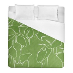 Katsushika Hokusai, Egrets From Quick Lessons In Simplified Drawing Duvet Cover (full/ Double Size) by Valentinaart