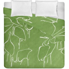 Katsushika Hokusai, Egrets From Quick Lessons In Simplified Drawing Duvet Cover Double Side (king Size) by Valentinaart