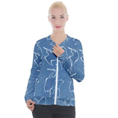 Katsushika Hokusai, Egrets From Quick Lessons In Simplified Drawing Casual Zip Up Jacket
