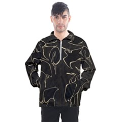 Katsushika Hokusai, Egrets From Quick Lessons In Simplified Drawing Men s Half Zip Pullover