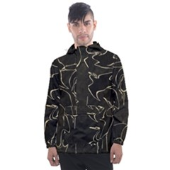 Katsushika Hokusai, Egrets From Quick Lessons In Simplified Drawing Men s Front Pocket Pullover Windbreaker