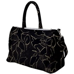 Katsushika Hokusai, Egrets From Quick Lessons In Simplified Drawing Duffel Travel Bag by Valentinaart
