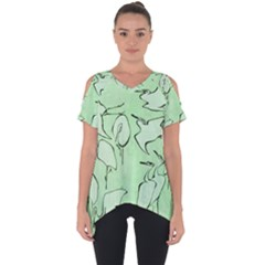 Katsushika Hokusai, Egrets From Quick Lessons In Simplified Drawing Cut Out Side Drop Tee by Valentinaart