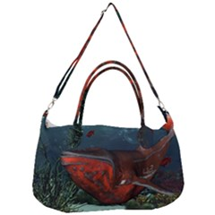 Awesome Mechanical Whale In The Deep Ocean Removal Strap Handbag