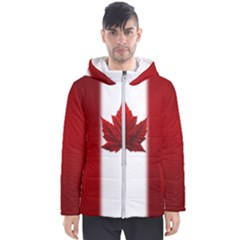 Canada Flag Jacket Men s Hooded Puffer Jacket by CanadaSouvenirs