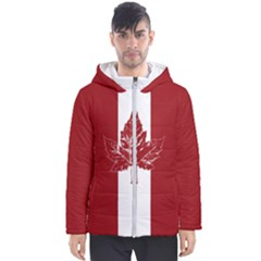 Cool Canada Flag Men s Hooded Puffer Jacket by CanadaSouvenirs