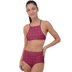 Cute Xoxo Pattern High Waist Tankini Set by tarastyle